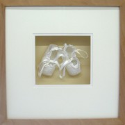 Framed Christening shoes