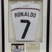 Framing Ronaldo signed shirt