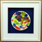 Childrens painted plate